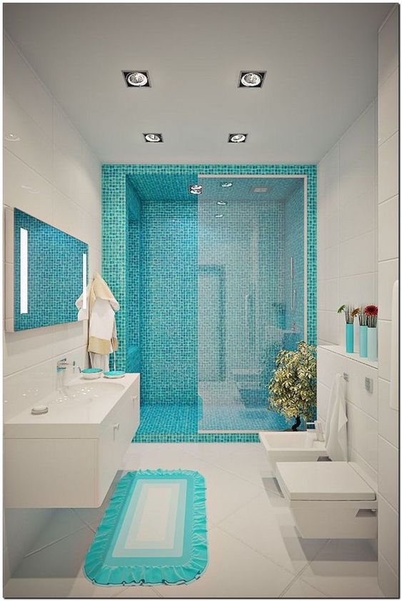 Blue Bathroom Ideas: Catchy Minimalist Decor