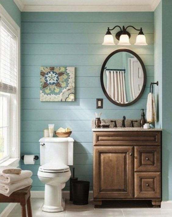 Blue Bathroom Ideas: Attractive Nautical Decor