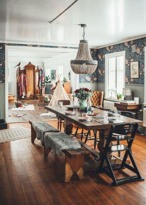Bohemian Dining Room Ideas 12