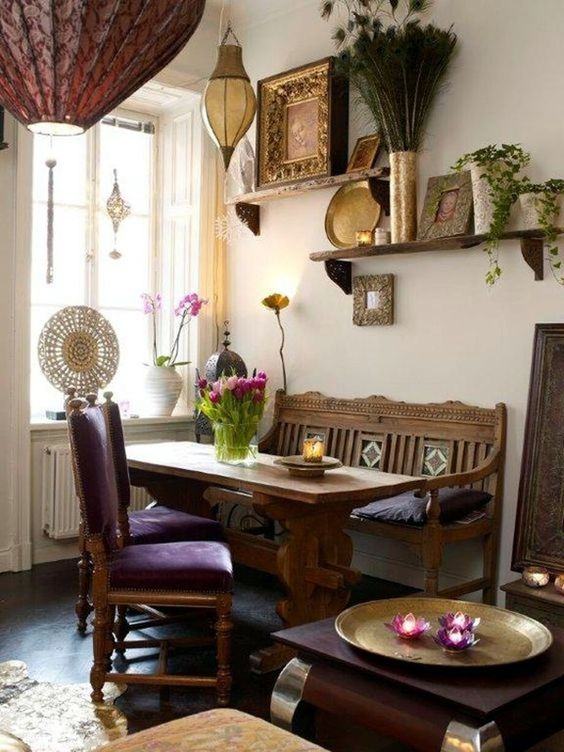 Bohemian Dining Room Ideas 13