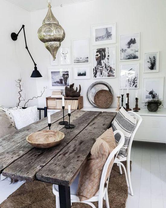 Bohemian Dining Room Ideas 19