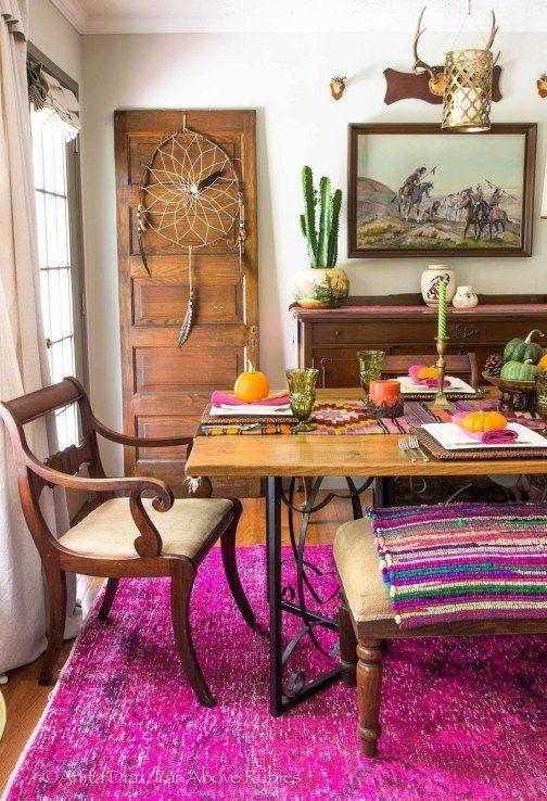 Bohemian Dining Room Ideas: Striking Catchy Decor