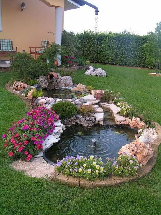 DIY Backyard Pond Ideas 11