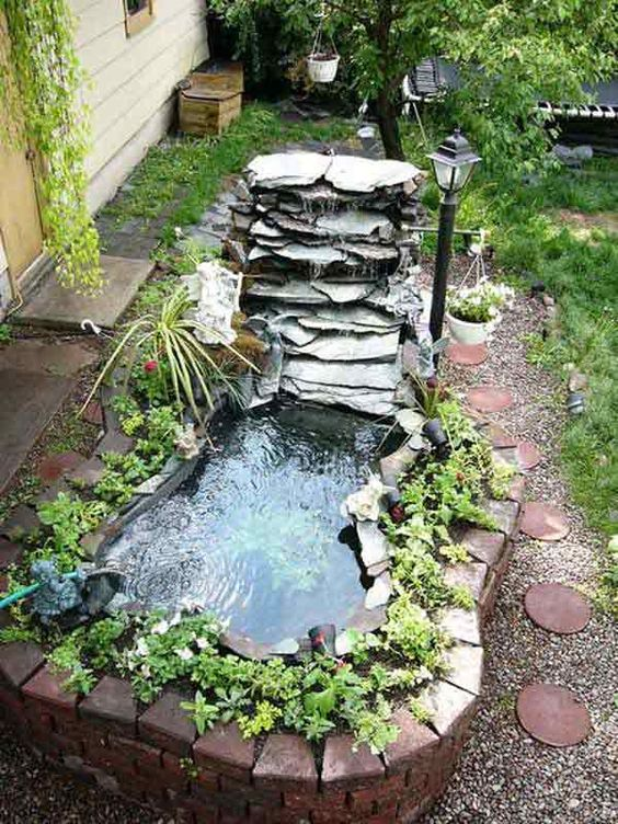 DIY Backyard Pond Ideas 12