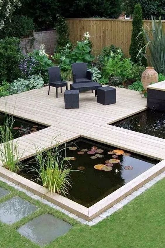 Backyard Pond Ideas: Minimalist Rustic Design