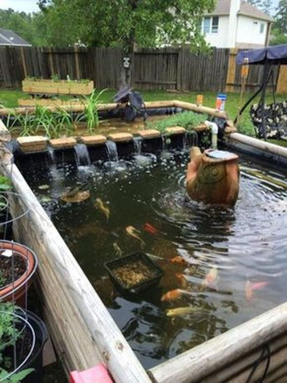 DIY Backyard Pond Ideas 20