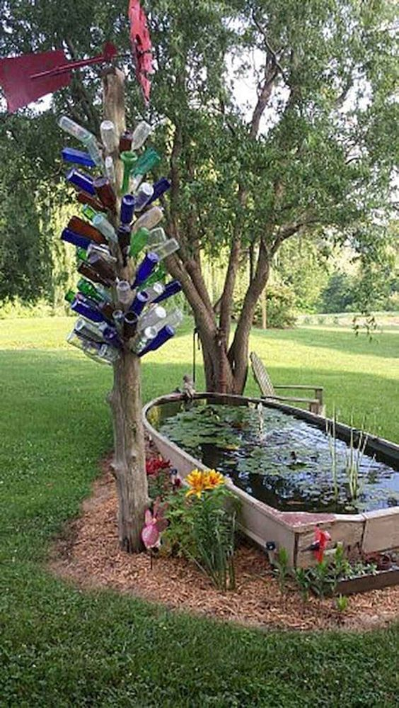 DIY Backyard Pond Ideas 22