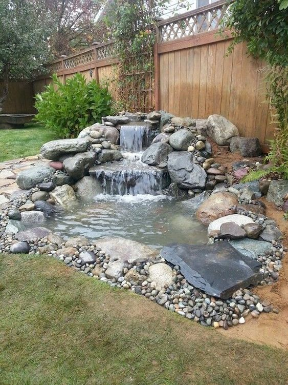 DIY Backyard Pond Ideas 7