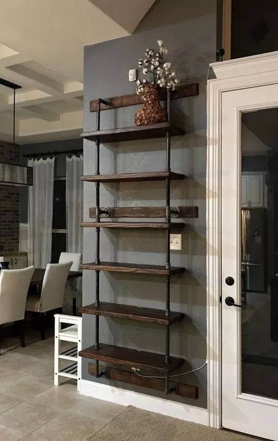 DIY Living Room Furniture Ideas: Elegant Industrial Shelf
