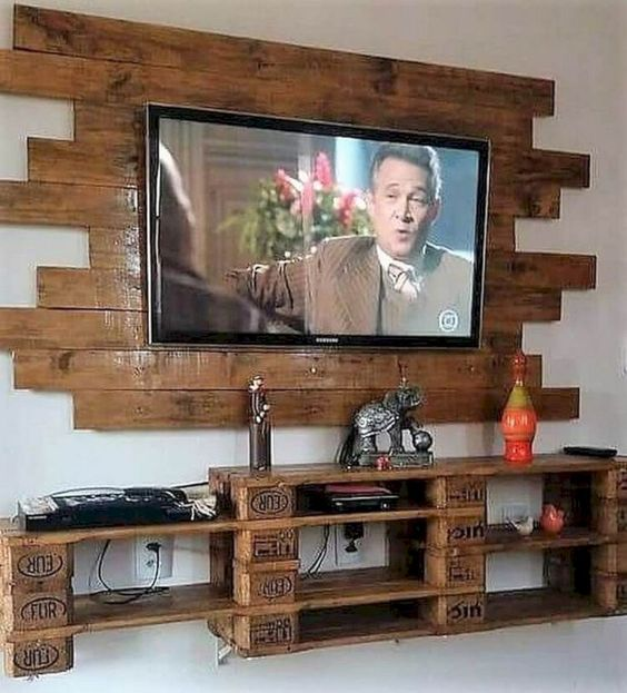 DIY Living Room Furniture Ideas: Rustic TV Console