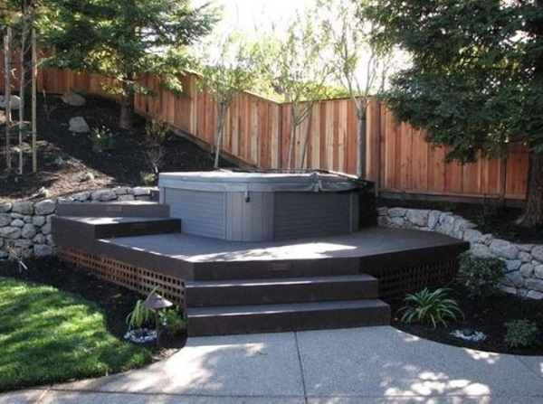 Hot Tub Landscaping Ideas feature
