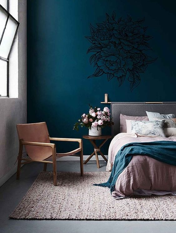 Master Bedroom Ideas: Stylish Teal Decor
