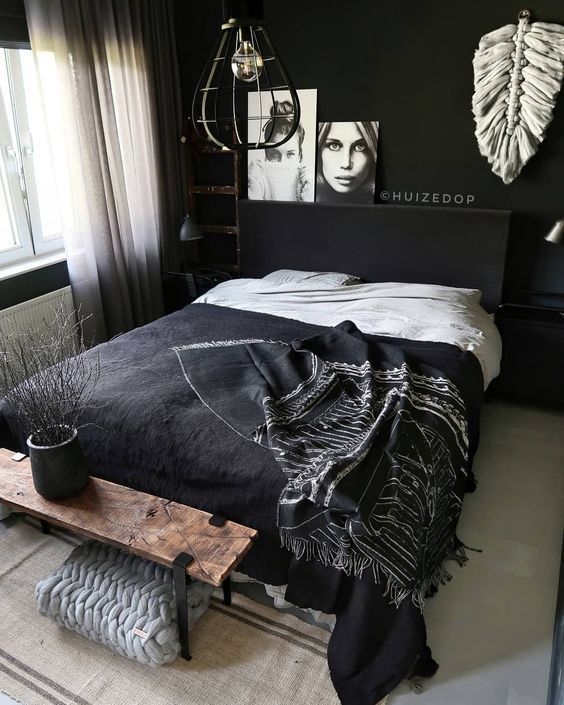 Small Bedroom Ideas: Unique Dark Decor