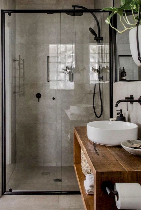 Bathroom Themes Ideas: Elegant Industrial Decor