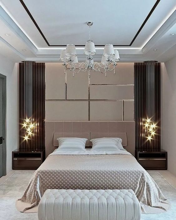 Luxury Bedroom Ideas: Stunning Lighting Fixture