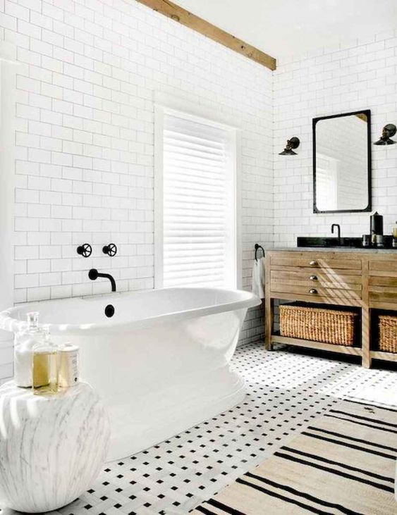 Scandinavian Bathroom Ideas: Warm Earthy Bathroom