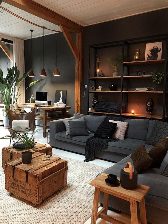 Industrial Living Room Ideas 12