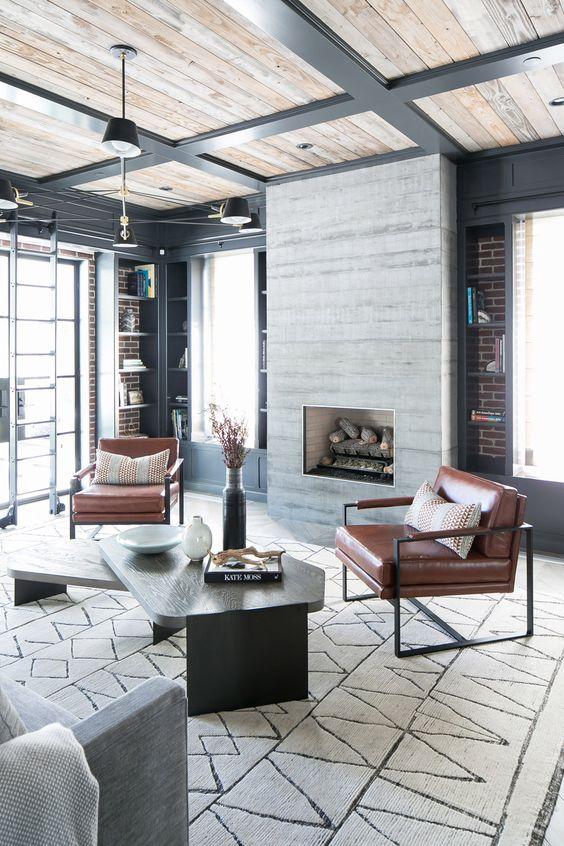 Industrial Living Room Ideas 13