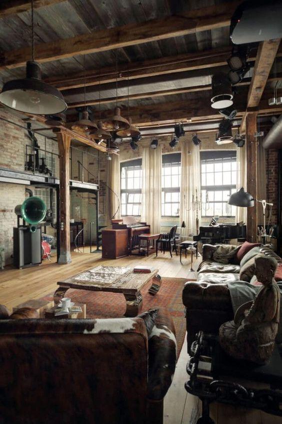 Industrial Living Room Ideas 14