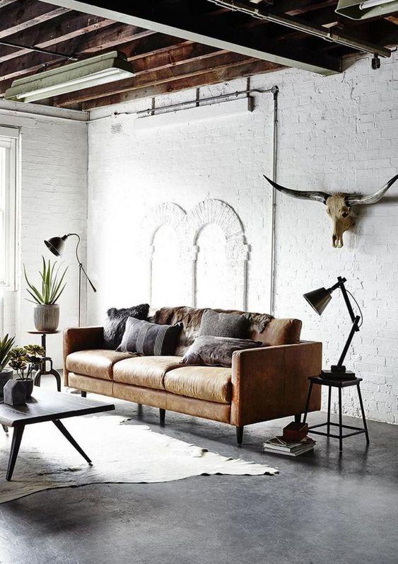 Industrial Living Room Ideas: Simple Industrial Look