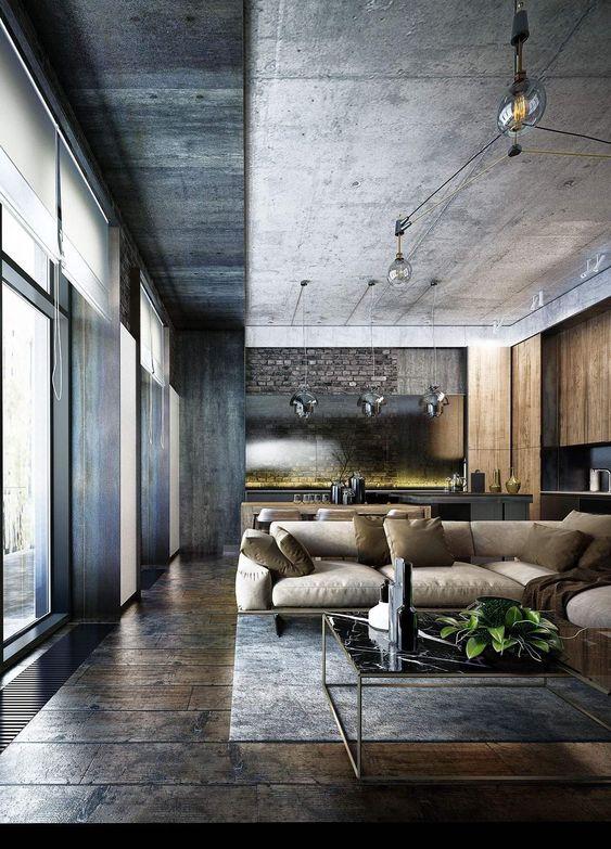 Industrial Living Room Ideas 20