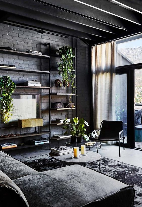 Industrial Living Room Ideas: Stylish Masculine Room