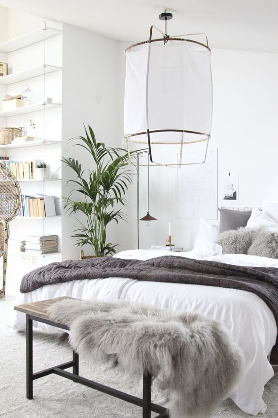 Scandinavian Bedroom Ideas: Cool Neutral Tones
